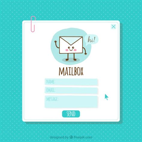 nice email template vector free download