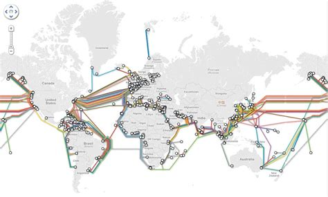 undersea cable map the web the new map of the undersea cables keep the