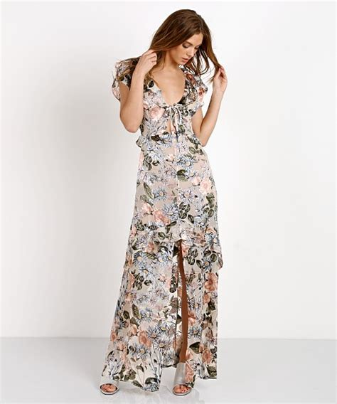 Luqiana Maxi by For Lemons Luciana Maxi Dress Ivory Floral Cd1535s