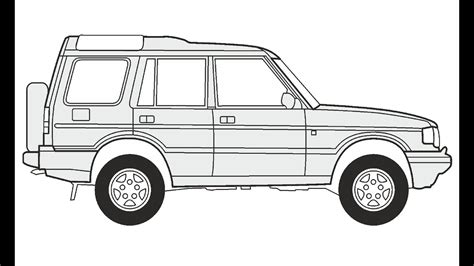 range rover drawing how to draw a land rover discovery 5 как нарисовать land