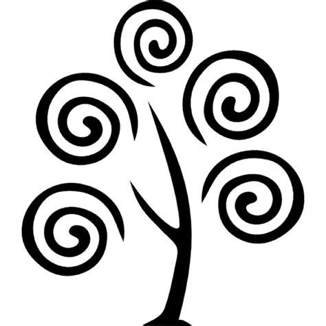 Lisy Top Putih Hitam Nl boom met spiralen iconen gratis