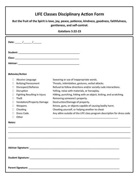 employee write up form templates fillable printable samples