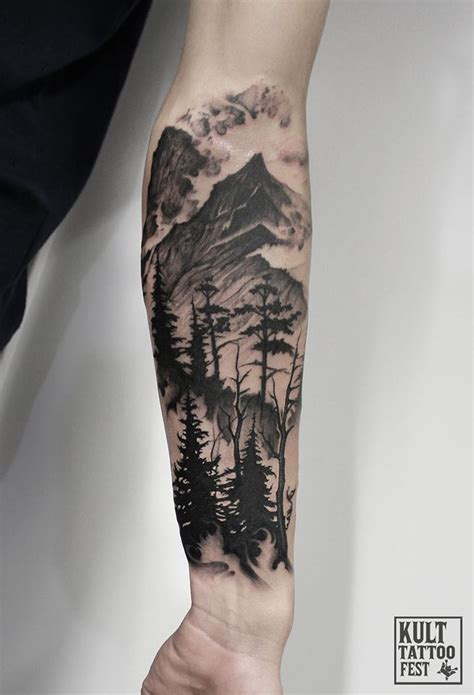 mountain tattoo sleeve best 25 nature sleeve ideas on forest
