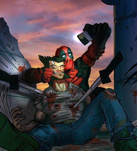 deadpool wolverine deadpool vs wolverine wip 2 the artwork of jonathan gragg