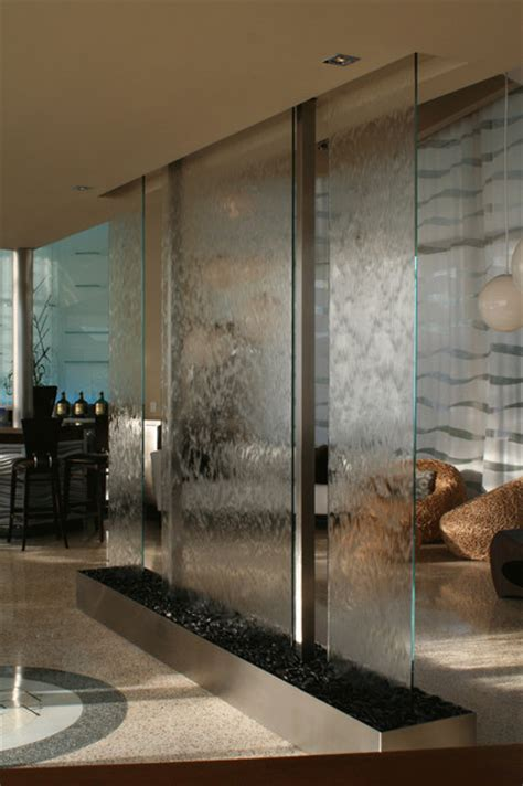 Water Wall Interior by Santa Modern Entry Miami By Water Studio