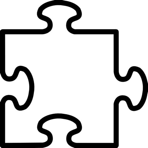 large blank puzzle pieces template blank jigsaw clip at clker vector clip