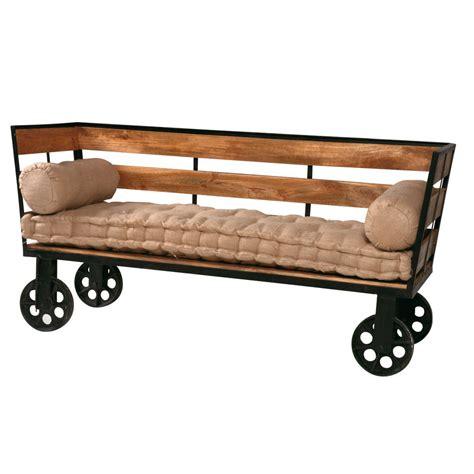 divano legno divano vintage legno e ferro etnico outlet mobili etnici
