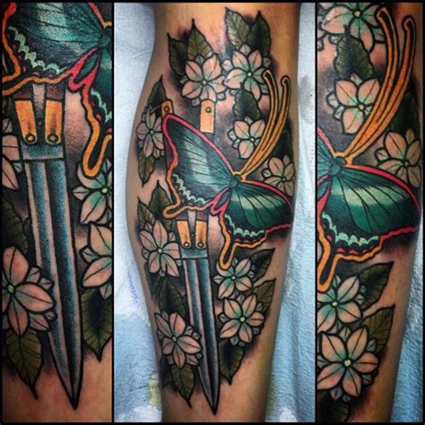 butterfly knife tattoo butterfly knife tattoo zoo