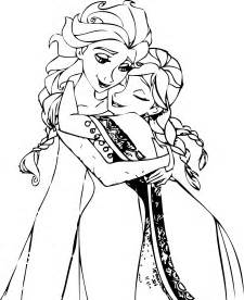 Your own collection and personal use elsa and anna hug coloring pages