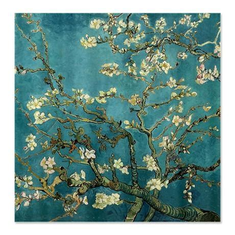 van gogh shower curtain van gogh almond branches in bloom shower curtain on