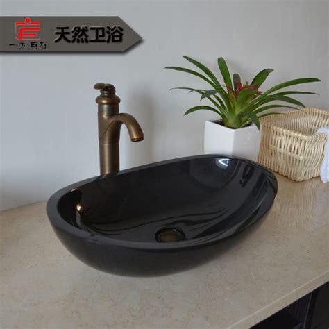waschbecken bad schwarz kontinentalen stein waschbecken aufsatzbecken