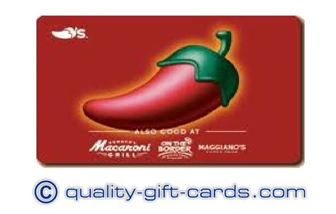 Chili S Gift Card Discount - chilis macaroni grill maggianos discount gift card quality gift cards