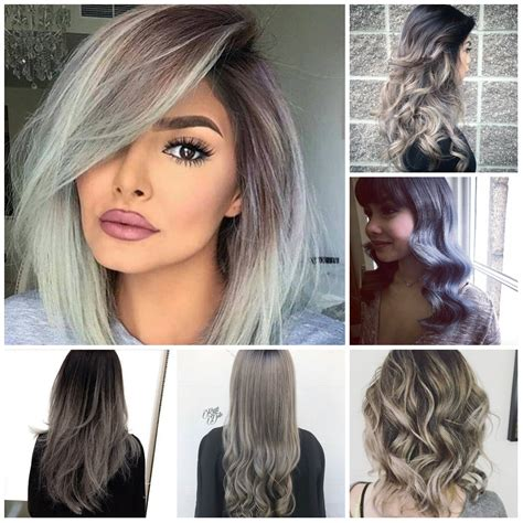 hairstyles and colours for 2018 silver ombre hair color trends moeroga gallery