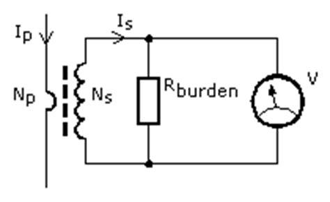 current transformer burden resistor circuit current transformers electronic measurements