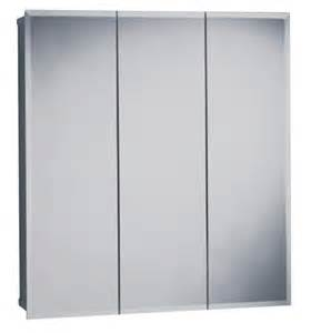 zenith products m24 beveled tri view medicine cabinet