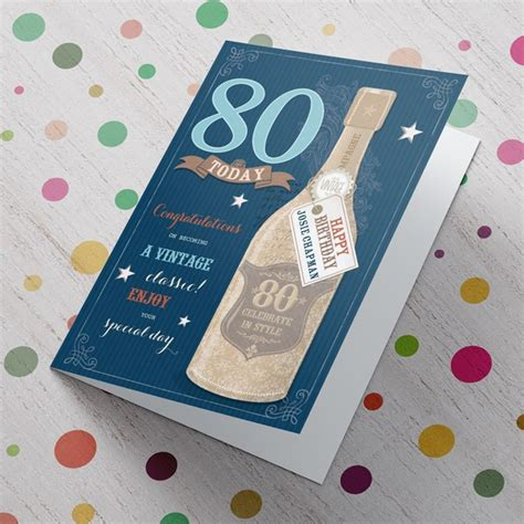 6pm Com Gift Card - personalised 80th birthday card a vintage classic from 99p