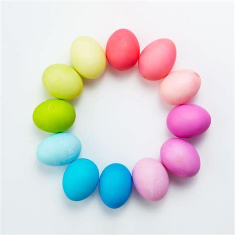 easter egg colors easter egg dyeing color wheels martha stewart