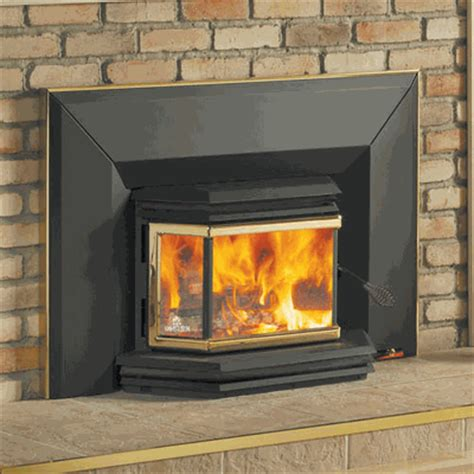 Wood Fireplace With Blower by Osburn 1800 High Efficiency Epa Bay Window Woodburning