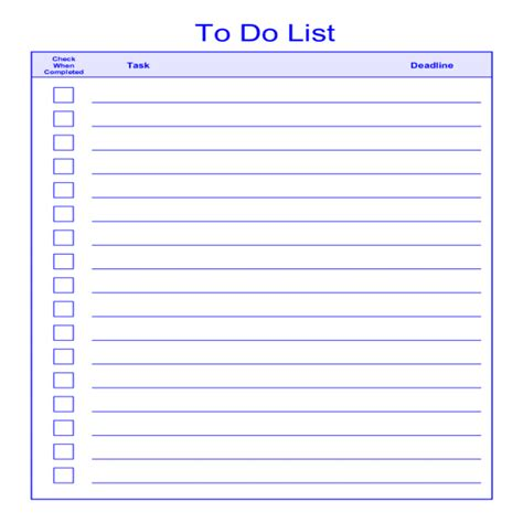 things to do template pdf to do list template task list templates