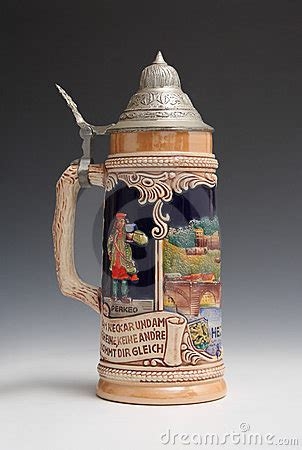 beer stein  heidelberg royalty  stock
