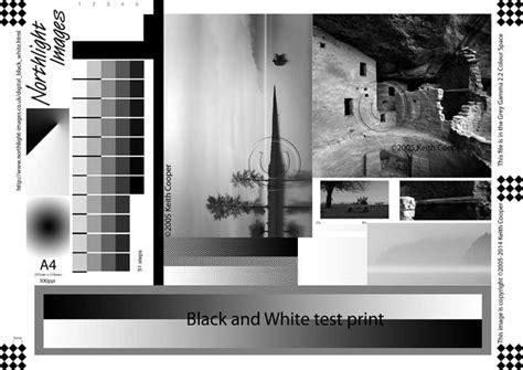 best pdf printer test image for black and white printing