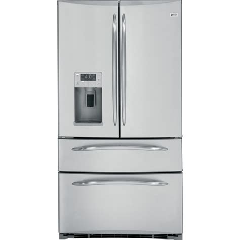 Ge Cafe French Door Refrigerator Counter Depth - ge profile series pgss5rkzss 24 8 cu ft french door bottom freezer refrigerator stainless steel