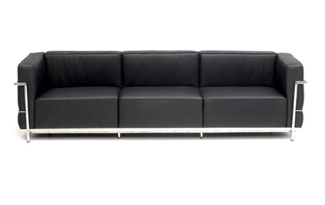 3 on a couch le grand confort 3 seater sofa by le corbusier designer
