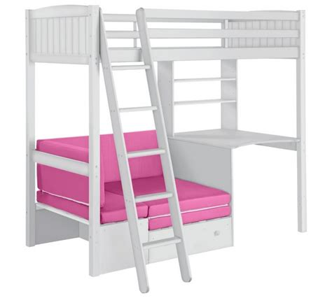 high rise bed with desk high sleeper with desk and sofa bed argos