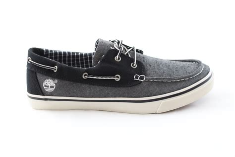 timberland gray boat shoes timberland oxford canvas boat shoe grey chambray 6537r