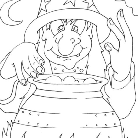 free coloring pages halloween witch halloween coloring
