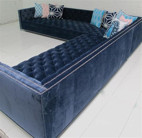 Navy Blue Sectional by Www Roomservicestore Navy Tufted New Sectional