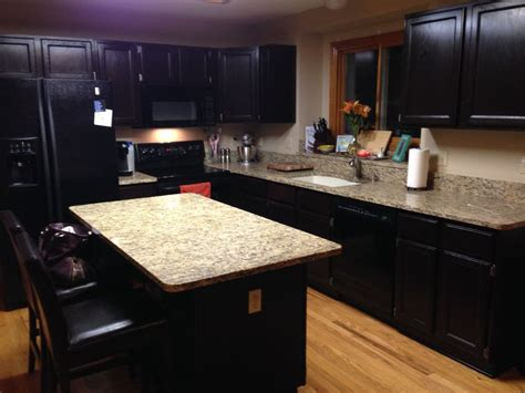 gel stain kitchen cabinets black java gel stain with black appliances for the home