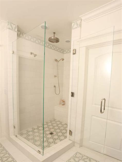 white shower walk in shower hgtv