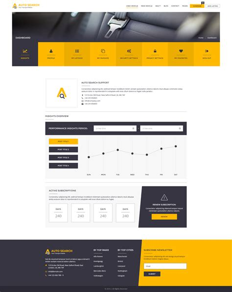 Auto Suchen by Auto Search Modern Psd Template For Car And Auto Dealers