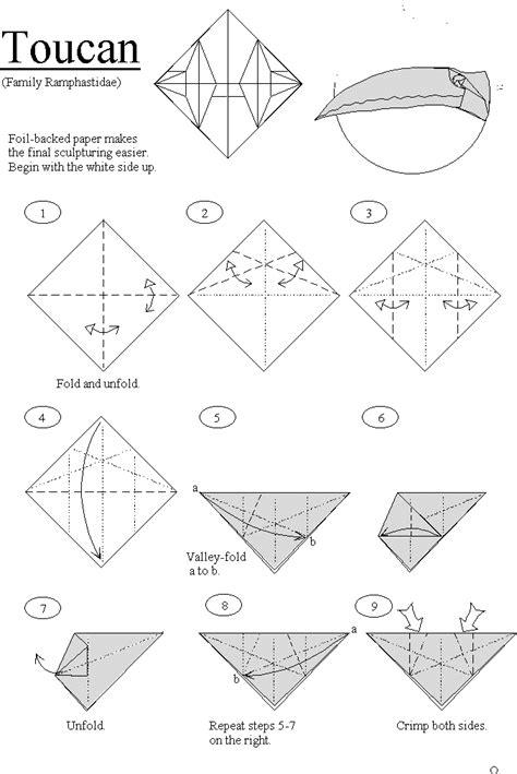 Origami Toucan - origami toucan by hans birkeland