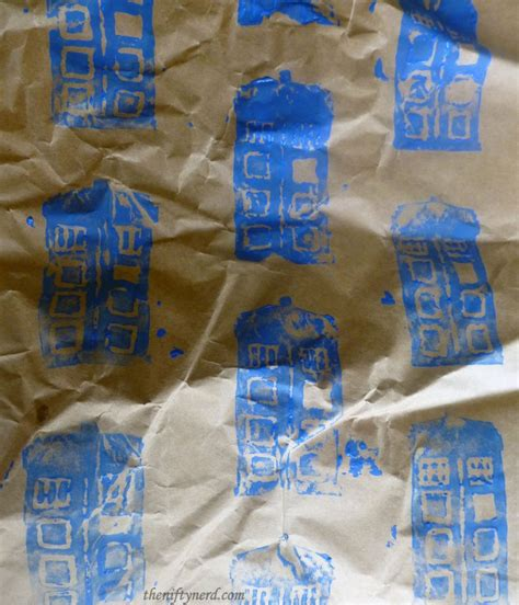 printable dr who wrapping paper homemade geeky wrapping paper tutorial dr who harry potter