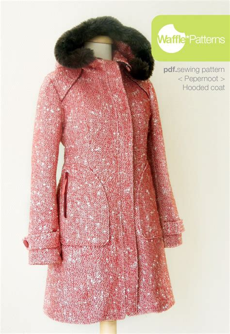 pattern sewing coat pdf sewing pattern waffle patterns hooded coat pepernoot