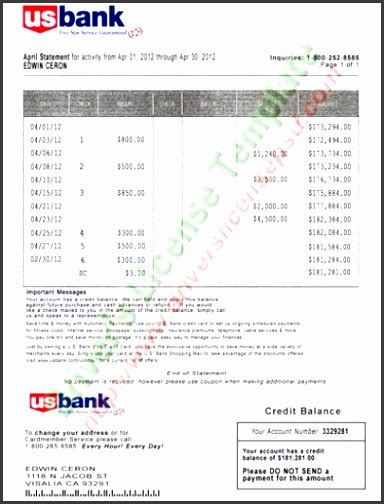 4 Bank Statement Templates Sletemplatess Sletemplatess Us Bank Statement Template