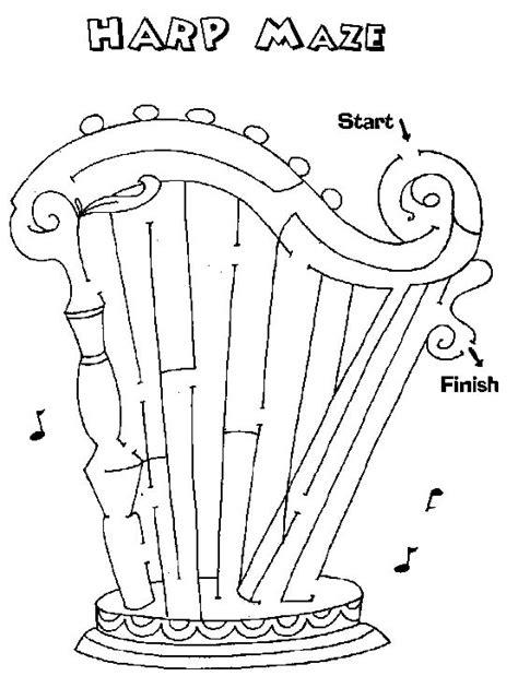 printable music maze printable mazes print your maze harp puzzle at