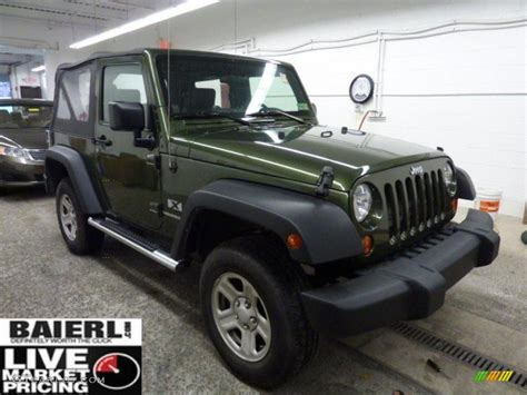 dark green jeep wrangler 2008 jeep green metallic jeep wrangler x 4x4 42243539