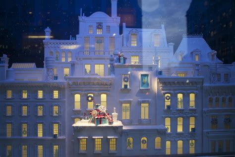 christmas house window displays tiffany s magical christmas window display style barista