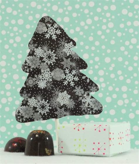 chocolate christmas tree lollipops with chocolate truffle