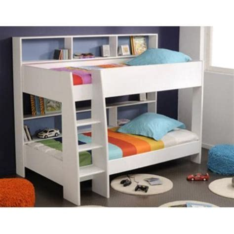 beds with shelves white parisot tam tam bunk bed with shelves http www