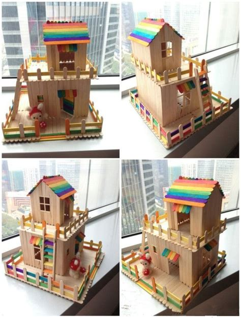 cara membuat rumah hamster dari stik 1000 images about popsicle sticks and more on
