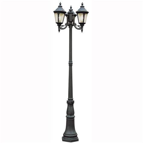 Bel Air Lighting 3 Light Outdoor Post Bel Air Lighting Way 3 Light Outdoor Black Post Lantern With Seeded Glass 5048 Bk The