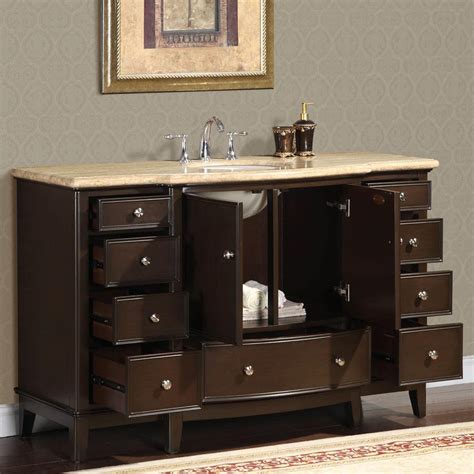 6237 t 60 60 single sink vanity travertine top cabinet