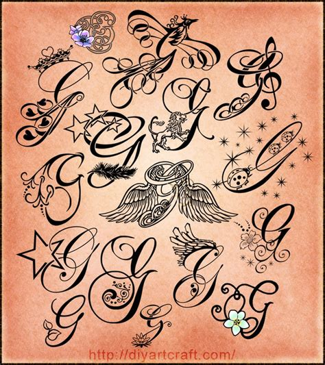 tattoo fonts letter g lettering g typography my style pinterest