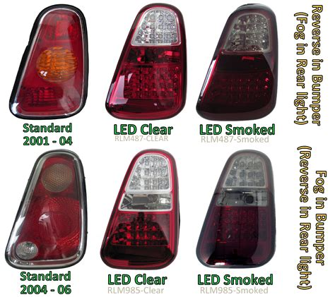 mini led tail lights smoked tinted led rear lights for bmw mini one cooper s