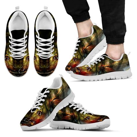 realistic fish sneakers groove bags