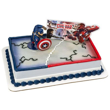 Wars Cake Decoration by Captain America Civil War Cake Decoration Kit Captain
